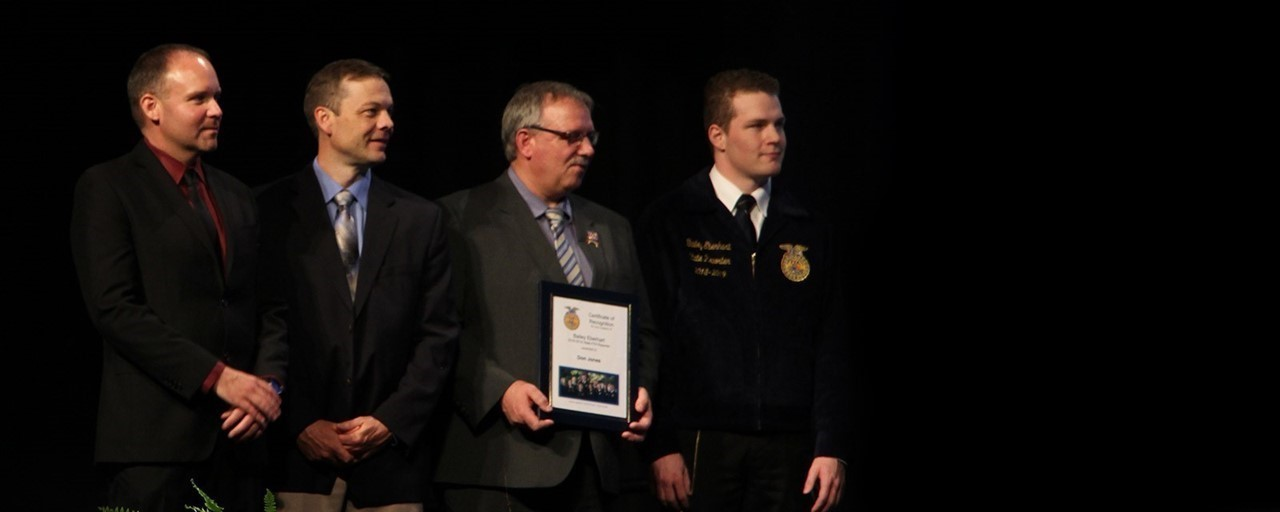 Harrison Central Alumnus Bailey Eberhart Honored as State Reporter at the Ohio FFA Convention