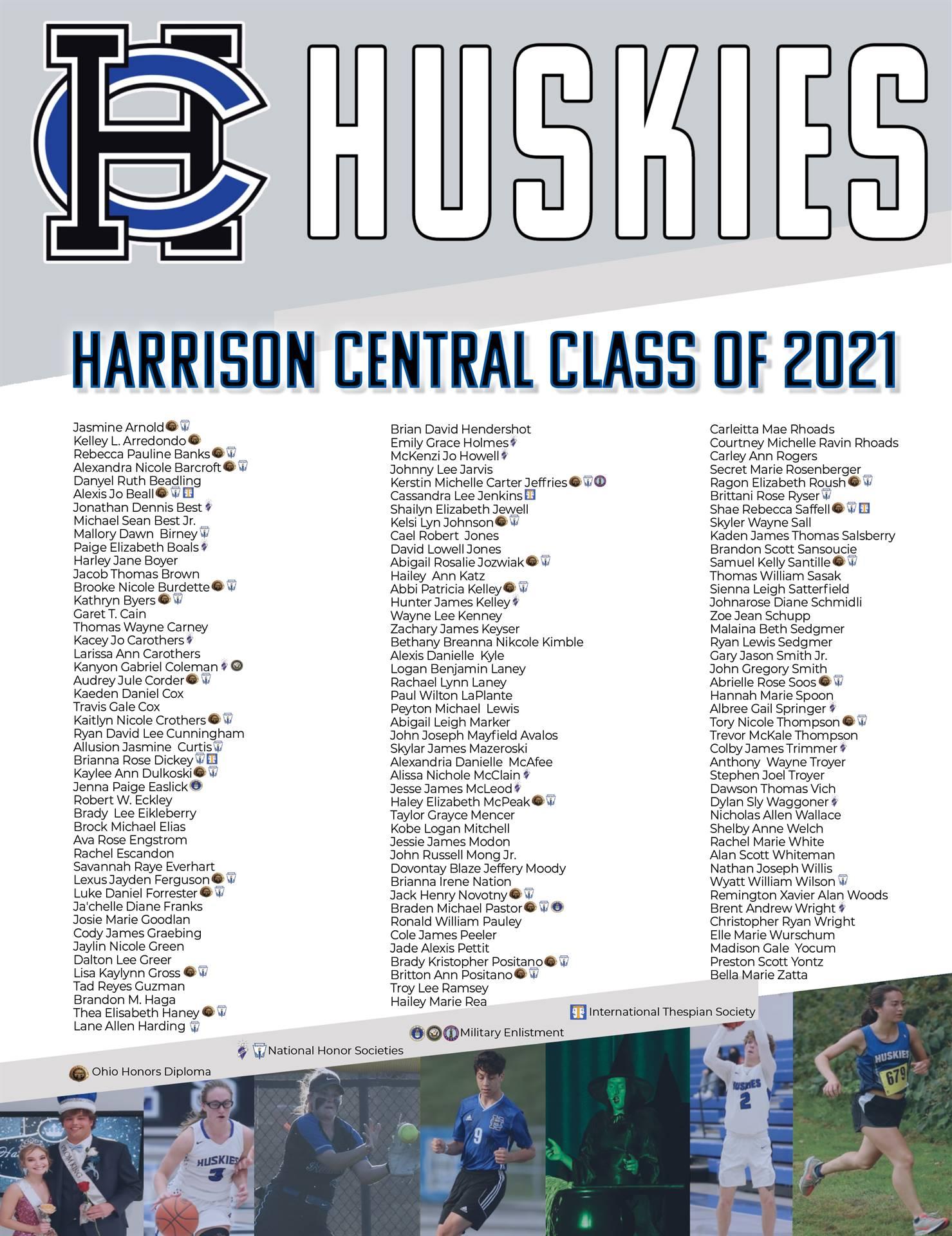 Class of 2021 Graduate List