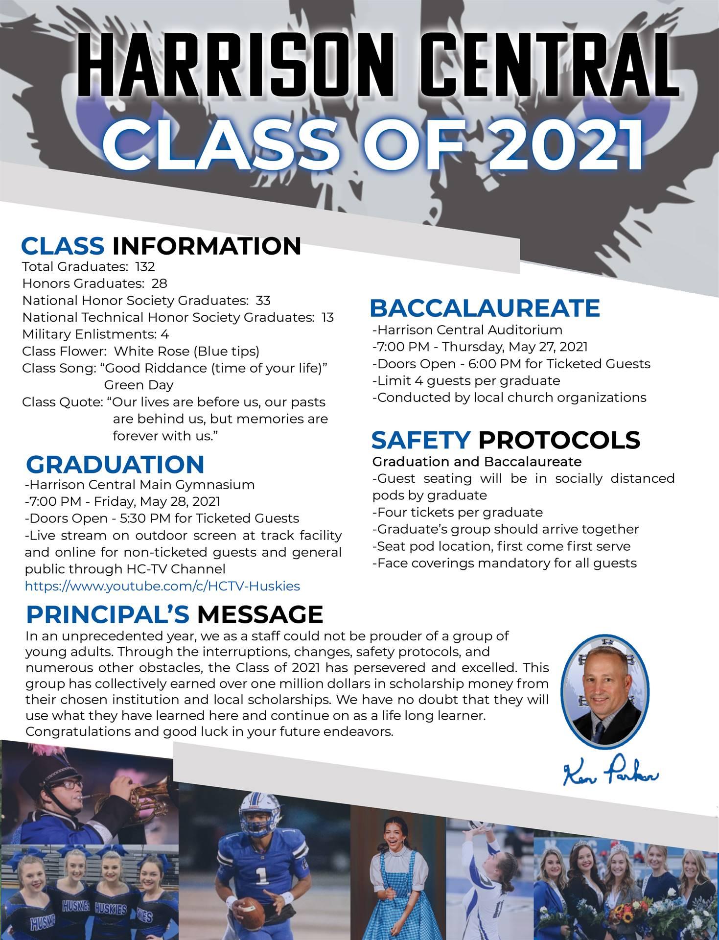 Class of 2021 Grad Information